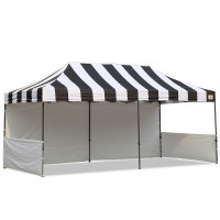 AbcCanopy Carnival 10x20 Black With White Walls Pop Up Tent Trade Show Booth Canopy W/ Wheeled bag
