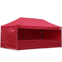 AbcCanopy 10x20 Deluxe Burgundy Pop Up Canopy Trade Show Both
