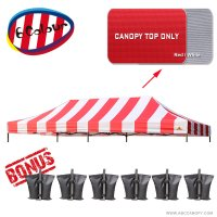 AbcCanopy 10X20 Pop Up Canopy Tent Replacement Canopy Top Cover for Caravan Canopy