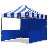 AbcCanopy Carnival 10x10 Blue With Blue Walls Pop Up Tent Trade Show Booth Canopy W/ Wheeled bag