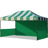 AbcCanopy Carnival 10x15 Green With Green Walls Pop Up Tent Trade Show Booth Canopy W/ Wheeled bag