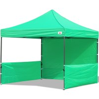 AbcCanopy 10x10 Deluxe Kelly Green Pop Up Canopy Trade Show Both