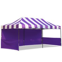 AbcCanopy Carnival 10x20 Purple With Purple Walls Pop Up Tent Trade Show Booth Canopy W/ Wheeled bag