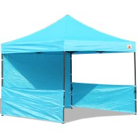 AbcCanopy 10x10 Deluxe Sky Blue Pop Up Canopy Trade Show Both