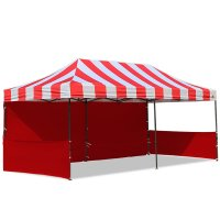 AbcCanopy Carnival 10x20 Red With Red Walls Pop Up Tent Trade Show Booth Canopy W/ Wheeled bag