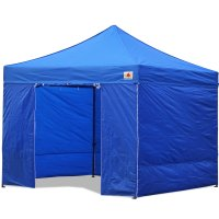 AbcCanopy 10x10 Royal Blue Deluxe Ez Pop Up Canopy Package