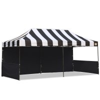 AbcCanopy Carnival 10x20 Black With Black Walls Pop Up Tent Trade Show Booth Canopy W/ Wheeled bag