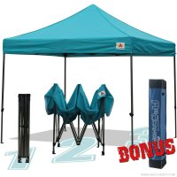 AbcCanopy 10x10 King Kong Turquoise Canopy Instant Shelter Outdor Party Tent Gazebo with carry bag