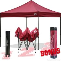 AbcCanopy 10x10 King Kong Burgundy Canopy Instant Shelter Outdor Party Tent Gazebo with carry bag