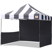AbcCanopy Carnival 10x10 Black With Black Walls Pop Up Tent Trade Show Booth Canopy W/ Wheeled bag
