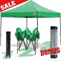 AbcCanopy 10x10 King Kong Kelly Green Canopy Instant Shelter Outdor Party Tent Gazebo with carry bag
