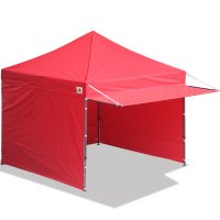 10x10 AbcCanopy Easy Pop up Canopy Tent Instant Shelter Deluxe Portable Market Canopy awning-Red