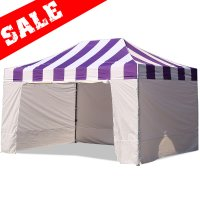 AbcCanopy Carnival Canopy 10x15 Purple With White Walls Ez Part Tent Bouns 6 Wall