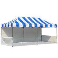 AbcCanopy Carnival 10x20 Blue With White Walls Pop Up Tent Trade Show Booth Canopy W/ Wheeled bag