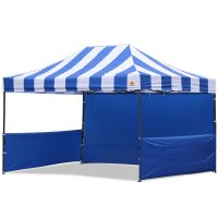 AbcCanopy Carnival 10x15 Blue With Blue Walls Pop Up Tent Trade Show Booth Canopy W/ Wheeled bag