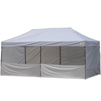 AbcCanopy 10x20 Deluxe Gray Pop Up Canopy Trade Show Both
