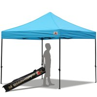 Abccanopy 10x10 Deluxe Sky Blue Pop Up Canopy With Roller Bag