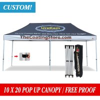 Abccanopy Custom Printed 10x20 EZ Pop up gazebo Market Stall Trade + Roller Bag