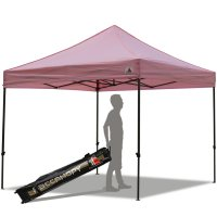 Abccanopy 10x10 Deluxe Pink Pop Up Canopy With Roller Bag