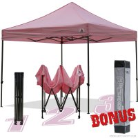 AbcCanopy 10x10 King Kong Pink Canopy Instant Shelter Outdor Party Tent Gazebo with carry bag