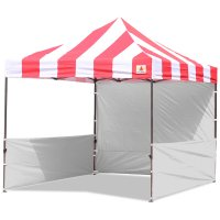 AbcCanopy Carnival 10x10 Red With White Walls Pop Up Tent Trade Show Booth Canopy W/ Wheeled bag