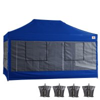 10X15 AbcCanopy Deluxe Royal Blue Food Vendor PackageTent with Roller Bag