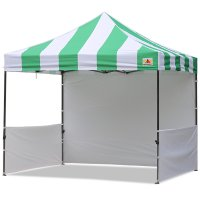 AbcCanopy Carnival 10x10 Green With White Walls Pop Up Tent Trade Show Booth Canopy W/ Wheeled bag