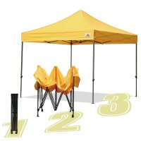 AbcCanopy 10x10 King Kong Gold Canopy Instant Shelter Outdor Party Tent Gazebo