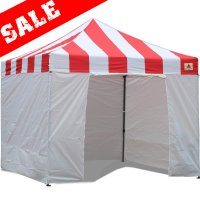 AbcCanopy Carnival Canopy 10x10 Red With White Walls Ez Part Tent Bouns 6 Walls