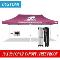 Abccanopy Custom Printed 10x20 EZ Pop up gazebo Market Stall Custom Marquees