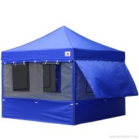 10X10 AbcCanopy Deluxe Royal Blue Food Vendor PackageTent with Roller Bag