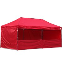 AbcCanopy 10x20 Deluxe Red Pop Up Canopy Trade Show Both