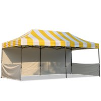AbcCanopy Carnival 10x20 Yellow With White Walls Pop Up Tent Trade Show Booth Canopy W/ Wheeled bag