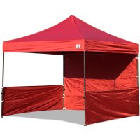 AbcCanopy 10x10 Deluxe Burgundy Pop Up Canopy Trade Show Both