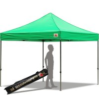 Abccanopy 10x10 Deluxe Kelly Green 10x10 Pop Up Canopy With Roller Bag