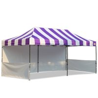 AbcCanopy Carnival 10x20 Purple With White Walls Pop Up Tent Trade Show Booth Canopy W/ Wheeled bag