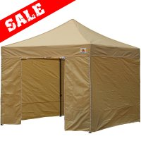 AbcCanopy 10x10 Deluxe Beige Ez Pop Up Canopy Package