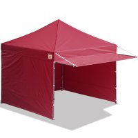 10x10 AbcCanopy Easy Pop up Canopy Tent Instant Shelter Deluxe Portable Market Canopy awning-Burgundy