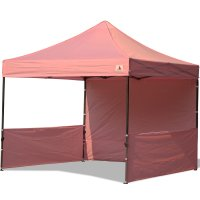 AbcCanopy 10x10 Deluxe Pink Pop Up Canopy Trade Show Both