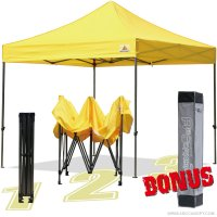 AbcCanopy 10x10 King Kong Yellow Canopy Instant Shelter Outdor Party Tent Gazebo with carry bag