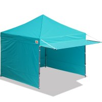 10x10 AbcCanopy Easy Pop up Canopy Tent Instant Shelter Deluxe Portable Market Canopy awning-Turquoise