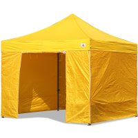 AbcCanopy 10x10 Yellow Deluxe Ez Pop Up Canopy Package