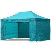 AbcCanopy 10x15 Deluxe Turquoise Package Tent With Roller Bag
