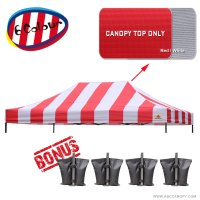 AbcCanopy 10X15 Pop Up Canopy Tent Replacement Canopy Top Cover for Caravan Canopy