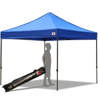Abccanopy 10x10 Deluxe Royal Blue Pop Up Canopy With Roller Bag