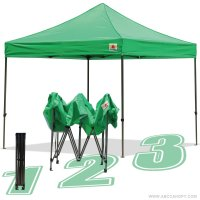 AbcCanopy 10x10 King Kong Kelly Green Canopy Instant Shelter Outdor Party Tent Gazebo
