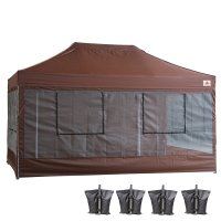 10X15 AbcCanopy Deluxe Brown Food Vendor PackageTent with Roller Bag