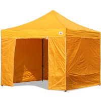 AbcCanopy 10x10 Gold Deluxe Ez Pop Up Canopy Package