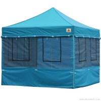 10X10 AbcCanopy Deluxe Sky Blue Food Vendor PackageTent with Roller Bag