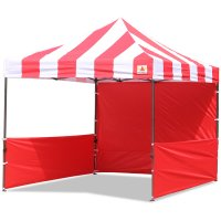 AbcCanopy Carnival 10x10 Red With Red Walls Pop Up Tent Trade Show Booth Canopy W/ Wheeled bag